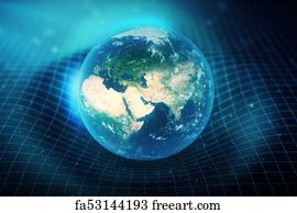 Free Earth Curvature Art Prints and Wall Artwork | FreeArt
