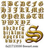 Free art print of ABC Alphabet lettering design