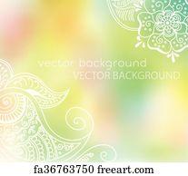 Free Art Print Of Tattoo Henna Lotus Vector Abstract Lotus Of