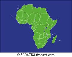 Free Republic Of Djibouti Art Prints And Wall Art FreeArt - Republic of djibouti map