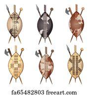 Free Maasai Shield Art Prints and Wall Artwork   FreeArt