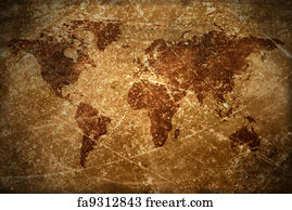 Free old world map art prints and wall art freeart old world map art print aged vintage world map texture and background gumiabroncs Gallery