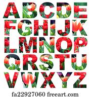 Free art print of Alphabet a to z