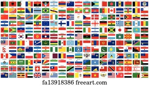 Free World Flags Art Prints and Wall Artwork | FreeArt