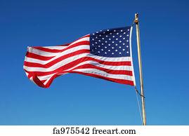 Free American Flag Waving Art Prints and Wall Artwork | FreeArt