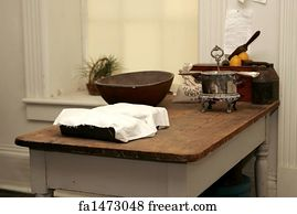 Free art print of American Revolution kitchen. A typical kitchen ...