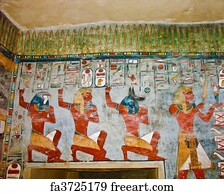 Art Print   Ancient Egyptian Wall Painting