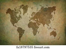 Free art print of ancient map of the world ancient map of the art print ancient world map brown gumiabroncs Gallery