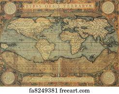 Free old world map art prints and wall artwork freeart old world map art print antique map of the world publicscrutiny Choice Image