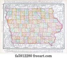 Old Iowa Map.Free Art Print Of Old California Map Old Map Of California Showing