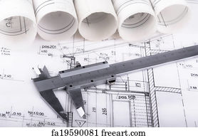 Free tracing paper roll art prints and wall art freeart tracing paper roll art print architect project drawing blueprint malvernweather Images