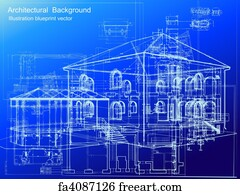 Free art print of architectural blueprint background vector art print architectural blueprint background vector malvernweather Choice Image