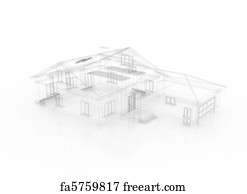 Free art print of 3d house and dollar sign freeart fa8742664 art print architectural blueprint malvernweather Image collections