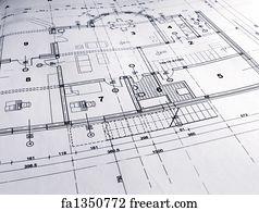Free blueprint house art prints and wall art freeart blueprint house art print architectural plan malvernweather Gallery