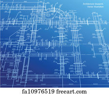 Free art print of architectural blueprint background vector art print architecture blueprint background vector malvernweather Images