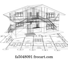 Free art print of architecture blueprint of a house architecture art print architecture blueprint of a house vector malvernweather Choice Image