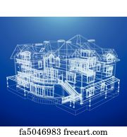 Free art print of architecture blueprint architecture blueprint on art print architecture blueprint of a house malvernweather Image collections