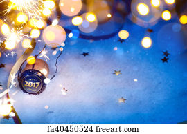 art print art christmas and 2017 new year party background