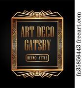 Free Art Print Of Art Deco Element Gatsby Design