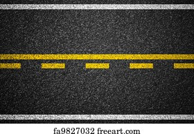 photo relating to Printable Road named Absolutely free Highway Markings Artwork Prints and Wall Art FreeArt