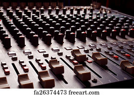 Free Sound Mixing Board Art Prints and Wall Artwork | FreeArt