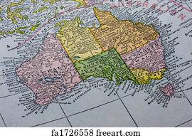 Free Map Australia Art Prints and Wall Art FreeArt