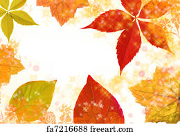 free art print of autumn border border of autumn leaves and
