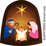 free art print of baby jesus in a manger a close up rendered image