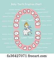 graphic about Baby Tooth Chart Printable named Totally free artwork print of Long lasting teeth cartoon chart