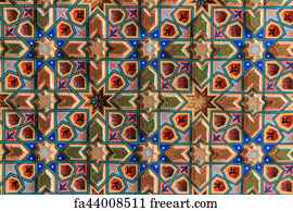 free art print of tiled background oriental ornaments from
