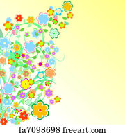 Free Art Print Of Beautiful Floral Border Flower Design Freeart