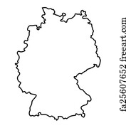 Free Art Print Of Map Of Germany Political Map Of Germany With