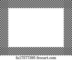 Free Art Print Of Black And White Chevron Frame With Frame