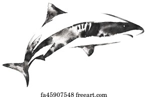 Free Black Shark Tattoo Art Prints And Wall Artwork Freeart