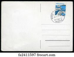 free art print of blank postcard britain 1934 blank antique back