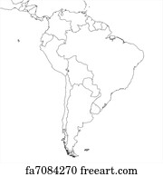 Free art print of Map of South America. Map of South America on the ...
