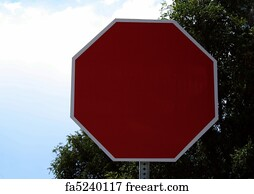 Free Blank Stop Sign Art Prints and Wall Artwork | FreeArt