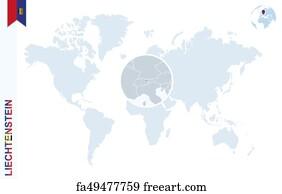 Free Liechtenstein Map Vector Art Prints and Wall Art FreeArt