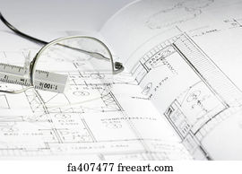 Free blueprint house art prints and wall art freeart blueprint house art print blueprint of a building 06 malvernweather Gallery