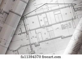 Free blueprints house art prints and wall art freeart blueprints house art print blueprint malvernweather Gallery