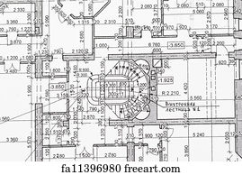Free blueprint house art prints and wall artwork freeart blueprint house art print blueprint malvernweather Gallery