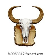 free bull skull art prints and wall artwork freeart