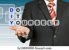 Free innovation diy art prints and wall artwork freeart innovation diy art print businessman with wording do it yourself solutioingenieria Gallery