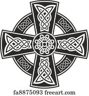 Free celtic cross art prints and wall art freeart celtic cross art print celtic cross voltagebd Gallery