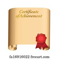 free art print of certificate of achievement certificate of