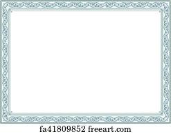 certificate art print certificate or diploma template
