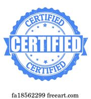 Free Art Print Of Certified Rubber Stamp Marked With