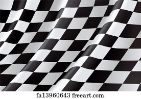 free art print of background with checkered racing flag background