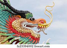 free art print of chinese dragon freeart fa10618286