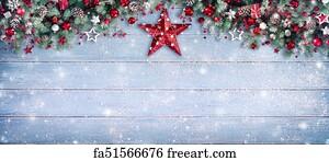 Free art print of Christmas Border